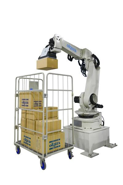 20210712okura - オークラ輸送機/6軸ロボットの混載パレタイズシステム発売