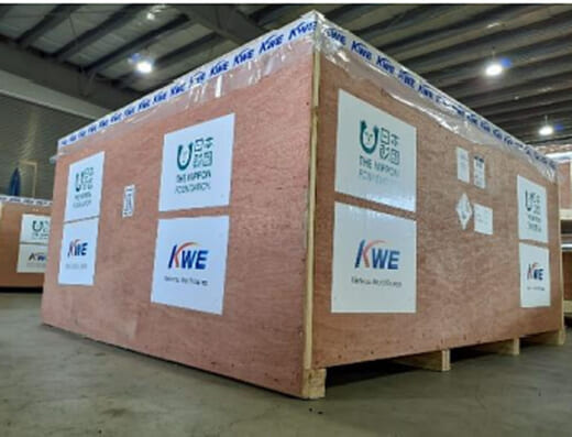 20210714kwe1 520x397 - 近鉄エクスプレス/日本財団のインドへの酸素濃縮器輸送協力