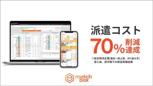 20210716matchibox1 520x292 - Matchbox/総合物流大手企業の人材派遣手数料70%削減