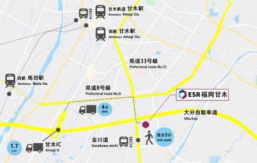 20210719esr1 520x331 - ESR/九州初進出、総額125億円で「ESR福岡⽢⽊DC」開発
