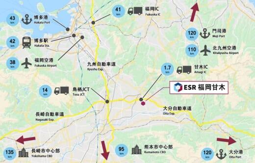 20210719esr2 520x332 - ESR/九州初進出、総額125億円で「ESR福岡⽢⽊DC」開発