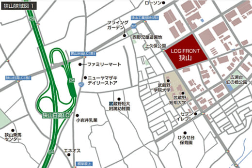 20210802nittetsukowa2 520x347 - 日鉄興和不動産/埼玉県狭山市に7.8万m2のBTS型物流施設着工