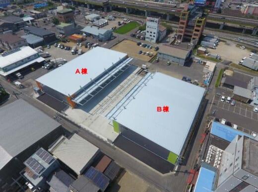 20210823sline 520x386 - エスライン/岐阜県岐南町に新倉庫2棟開設