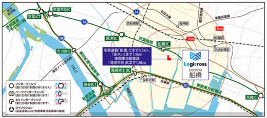 20210823trc2 520x231 - 東京流通センター/千葉県船橋市のロジクロス船橋のPM業務を受託