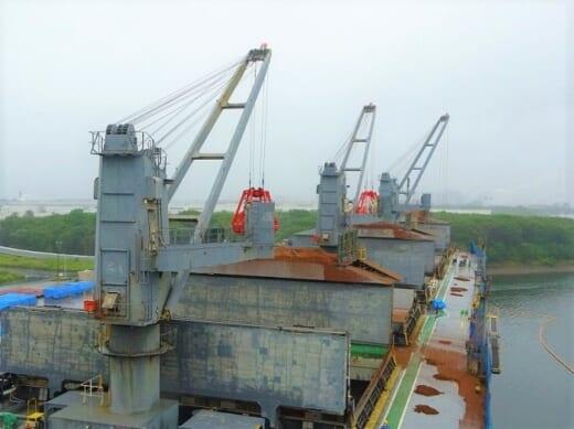 20210909nyk22 520x389 - 日本郵船等/木材チップ輸送船にクレーン自動運転装置