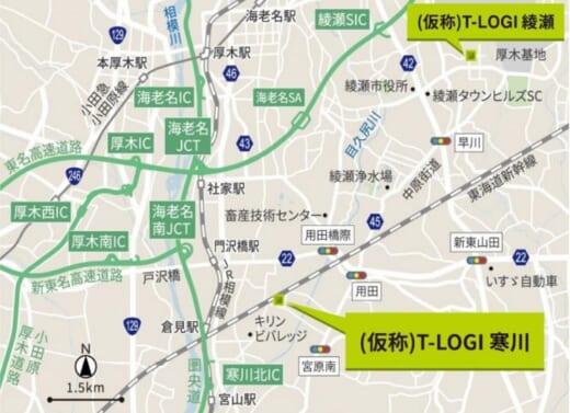 20210913tokyotatemono1 520x377 - 東京建物/神奈川内陸に物流施設2棟建設、外装デザイン統一