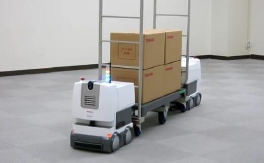 20210917toshiba1 520x322 - 東芝/複数台ロボットによる協調搬送を実現