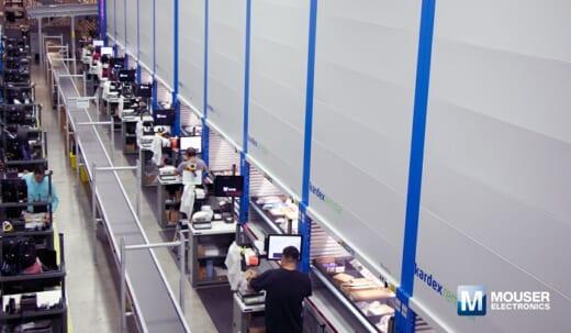 20210922mouser 520x303 - 米国マウザー社/物流センターに垂直リフトモジュール導入