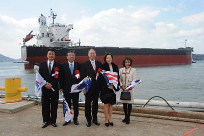 20110404nyk - 日本郵船/新造ばら積み船竣工、台湾電力会社向け石炭輸送