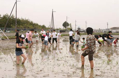 20110510sagawa - SGホールディングス/自然体験学習(田植え体験)を実施