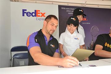 20111019fedex0 - フェデックス/楽天ジャパンオープン2011に協賛