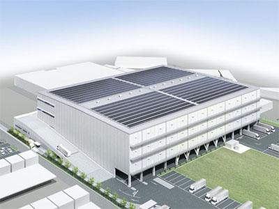 20111118oobayashi - 大林組/自社物流倉庫屋根上にメガソーラー発電を導入