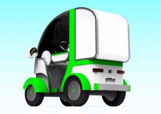 20111122town - タウンEV/宅配用一人乗り電気自動車